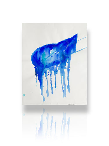 Signature Blue bottle | by artist Libby Watkins
