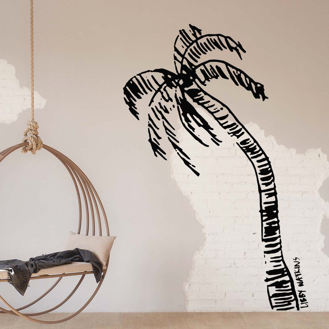Signature Ink Palm Wall Decal