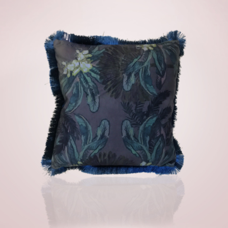 Gypsy Palm Cushion - 45cm Midnight