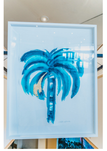 Signature Gold and Emerald Flat Fan Palm | Made to order with artist Libby Watkins