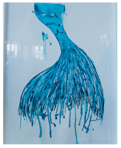 Mermaid - Xtr Large Framed  | Made to order with artist Libby Watkins