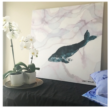 Marble Whale Canvas by Libby Watkins