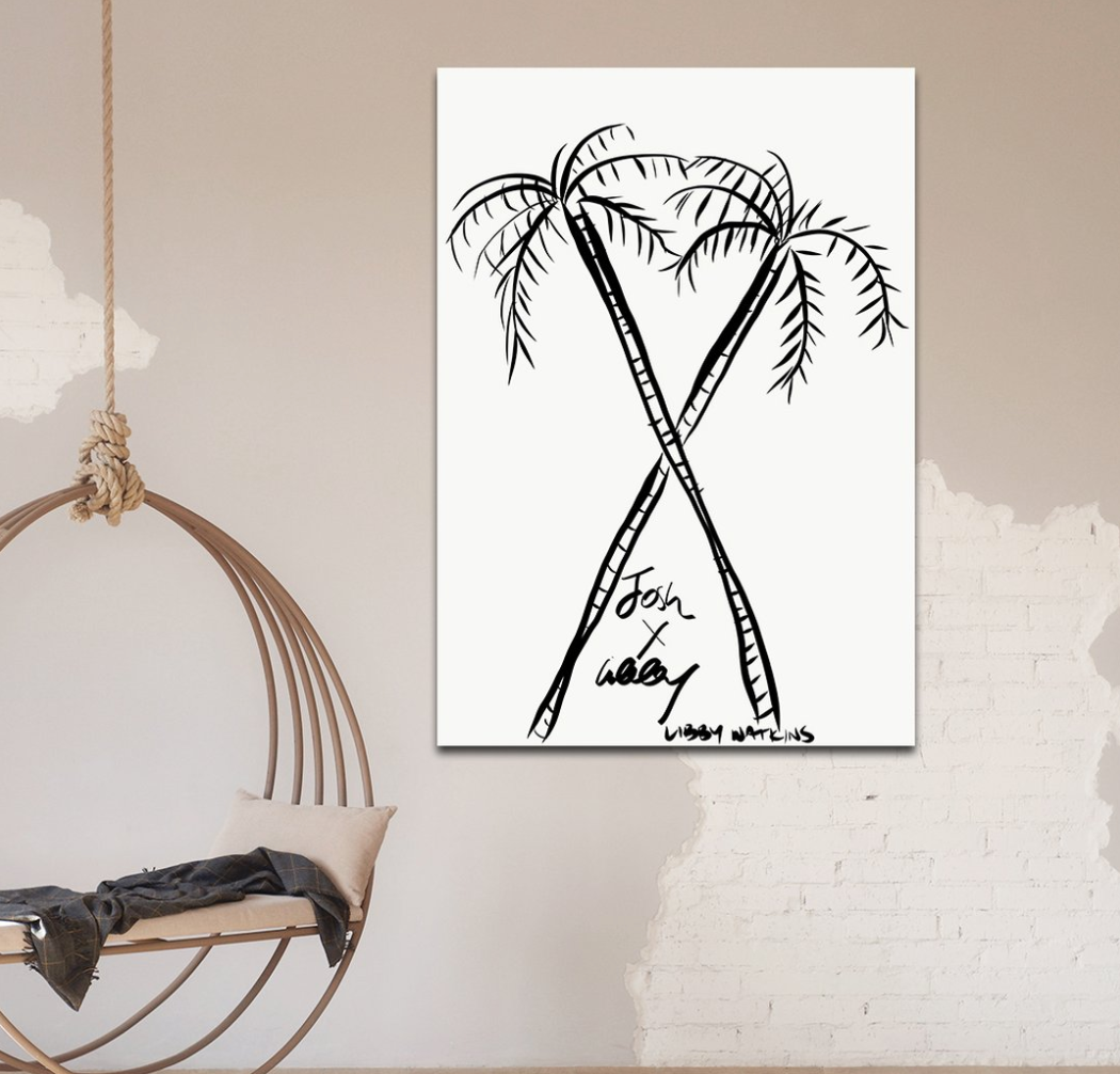 Star Crossed Ink Palm Customisation Print