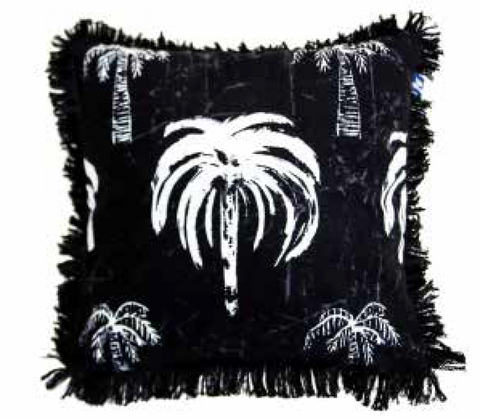 Signature Palm Cushion - Black 45cm