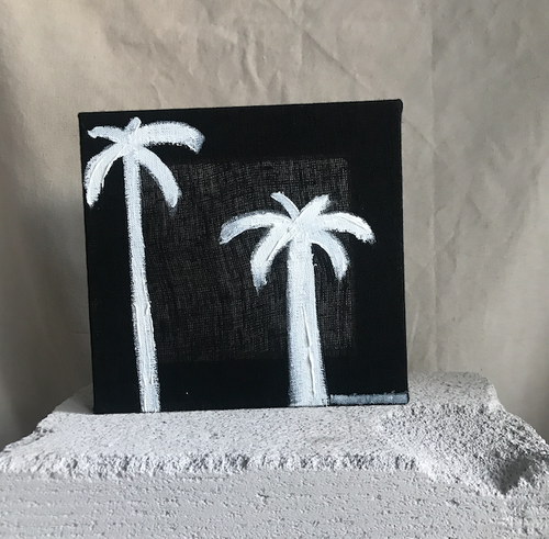 Mini White Ink Palm | 190725