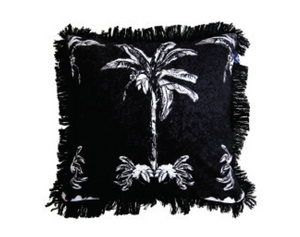 Banana Bungalow Cushion - Black 45cm