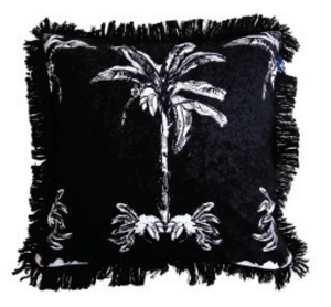 Banana Bungalow Cushion - Black  60cm