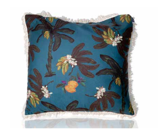 Banana Bungalow Cushion Jungle- 60cm with fringing
