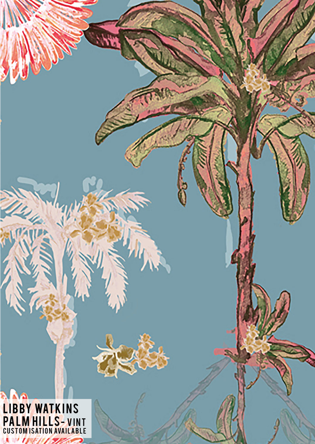 Palm Hills Vintage Wallpaper