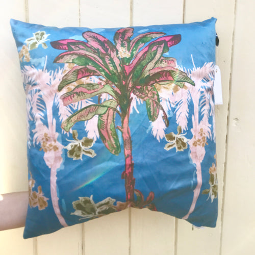 Palm Hills Cushion - 60cm Vintage Blue