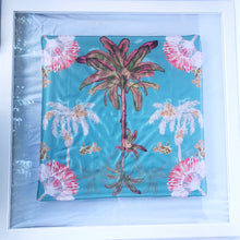 Mini silk scarf Palm Hills - vintage Blue