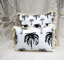Signature Palm Cushion - White 40 x 60cm