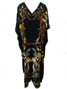 Jungle Warrior Long Palma Split Hem Kaftan