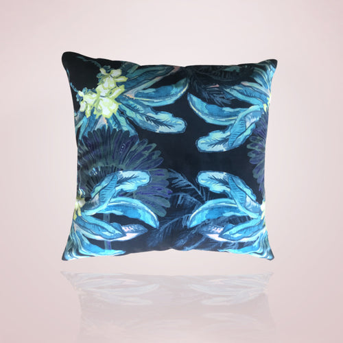 Gypsy Palm Cushion -  60cm Aqua Pink