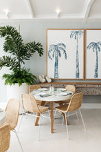 'INK PALMS' in indigo Barrenjoey House Artwork