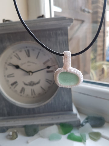 Wrapped Sea Glass Necklace 013