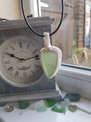 Wrapped Sea Glass Necklace 014