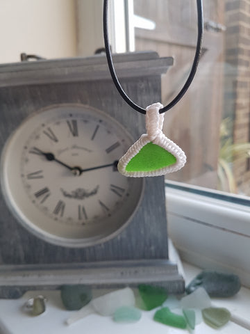 Wrapped Sea Glass Necklace 015