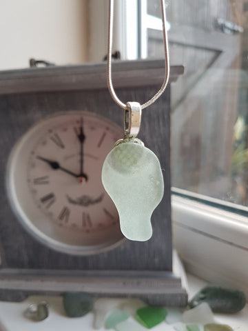 Mounted Sea Glass Necklace 033