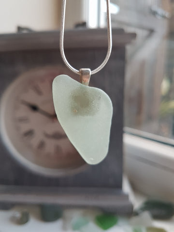 Mounted Sea Glass Necklace 035