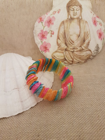 Shells Bracelets Multi Coloured Bright