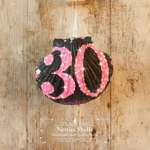 30th Pink and Black