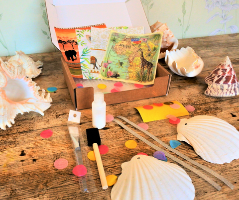Scallop Shell Craft Box AFRICA