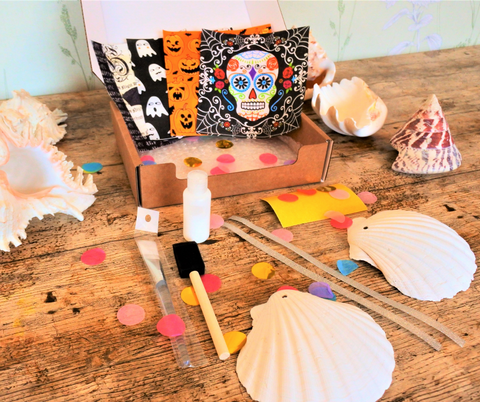 Scallop Shell Craft Box HALLOWEEN