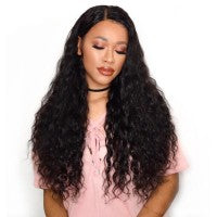 360 Lace Frontal Wig 150% Density Water Wavy Virgin Hair - Roseandjoy
