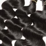 10-30 inches 100% Virgin Brazilian Human Hair Body wave weave 1B Natural black - Roseandjoy