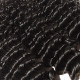 10-30 INCHES 100% RAW VIRGIN INDIAN HUMAN HAIR Deep Curly Weave Colour 1B- Natural Black - Roseandjoy