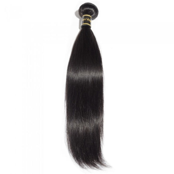 10-30 Inches 100% Raw Virgin Brazilian human hair weave Straight 1B Natural colour - Roseandjoy