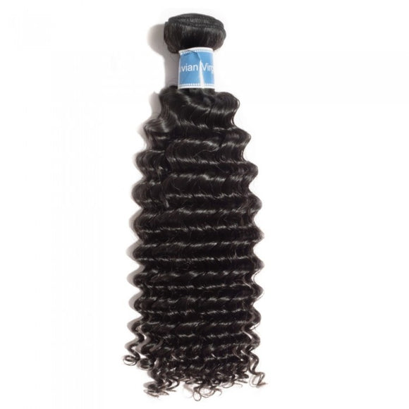 10-30 INCHES 100% RAW VIRGIN PERUVIAN HUMAN HAIR Deep Curly Weave Colour 1B- Natural Black - Roseandjoy