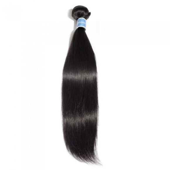 10-30 INCHES 100% RAW VIRGIN PERUVIAN HUMAN HAIR STRAIGHT WEAVE 1B NATURAL BLACK - Roseandjoy