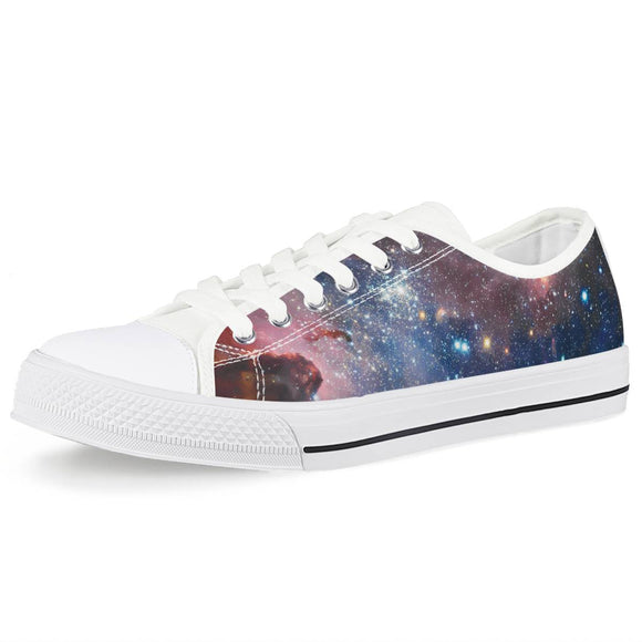 Light Year - White Low Top Canvas Shoes - Roseandjoy