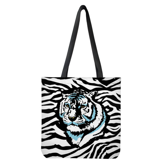 Stripes of Winter - Cloth Tote Bags - Roseandjoy