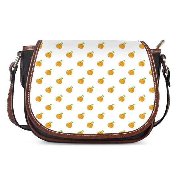 Orange Cartoon -  Drawing Pattern Design Saddle Bags - Roseandjoy