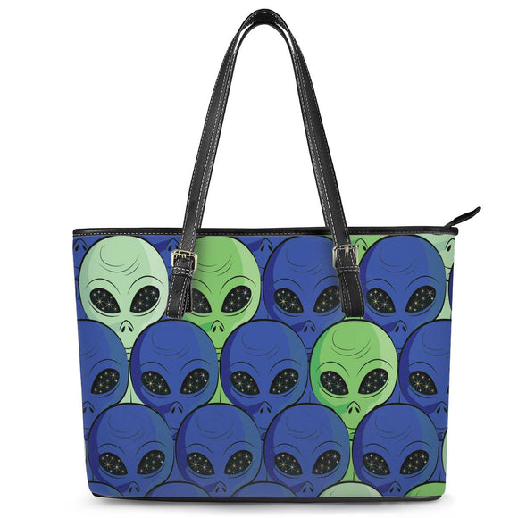 Spaced Out - Leather Tote Bags - Roseandjoy