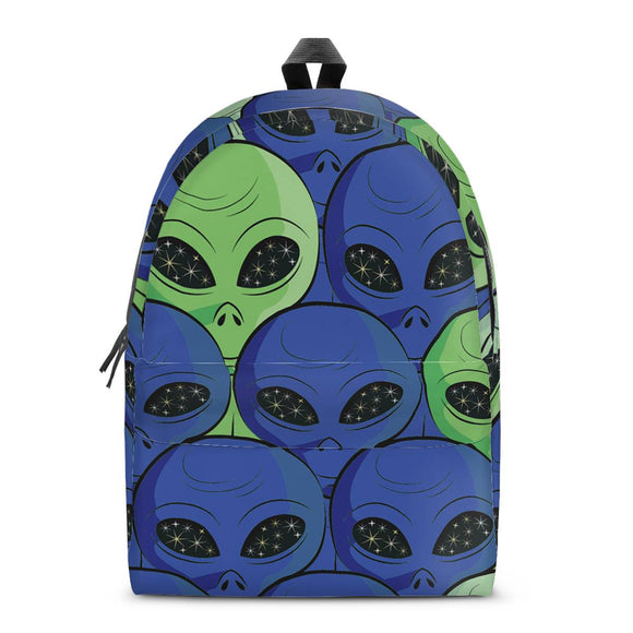 Spaced Out - All Over Print Cotton Backpack - Roseandjoy
