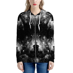 ET Blackout - Women's All Over Print Zip Hoodie - Roseandjoy