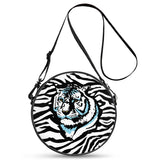 Stripes of Winter - Round Satchel Bags - Roseandjoy
