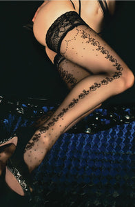 Black ballerina hold up stockings - Roseandjoy
