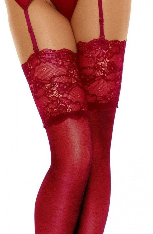Cherry romance hold up stockings - Roseandjoy