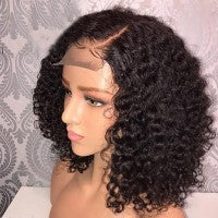 4''x4'' Closure Bob Wig Deep Curly Pre-Plucked Brazilian Virgin Hair - Roseandjoy