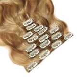16 to 26 Inch #27/613 10 pieces body wave Clip In Human Hair Extensions - Roseandjoy