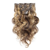 16 to 26 Inch #4/27 10 pieces Body Wave Clip In Human Hair Extensions - Roseandjoy