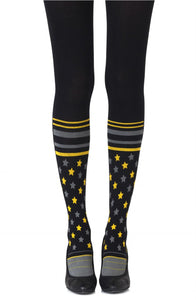 'Sock it to me' black printed tights - Roseandjoy