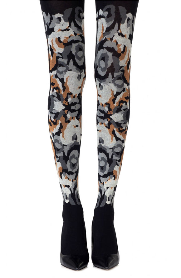 'Earth beauty godess' print on black tights - Roseandjoy
