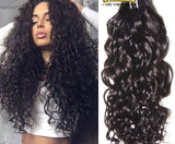 10-30 Inches Italian Curly Virgin Indian Hair colour 1B, Natural Black - Roseandjoy