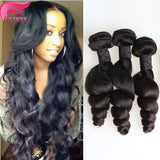 10-30 Inches Loose Wavy Virgin Malaysian Hair colour 1B, Natural Black - Roseandjoy